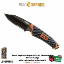 Gerber Bear Grylls Compact Fixed Blade Knife, w Clip Sheath, Survival #31-001066