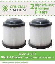 2 Replacements Black & Decker PVF110 PHV1210 Vacuum Filter Part # 90552433