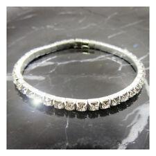 1 ROW -  Bling Bracelet Wedding Bridal Silver Prom Formal Crystal Diamante J328