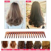 Wide Tooth Comb Brown Plastic Large Wide Hair Comb Hair Care Styling Tools UK