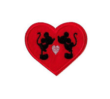 Minnie Mickey - Valentine's Day - Love - Heart - Embroidered Iron On Patch