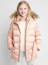 NEW GAP Girl NWT Down tie-belt Puffer Parka Coat Jacket Sz XXL 14 16 $128 PINK