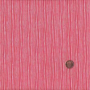 Textiles français Red Mini Stripe French fabric 100% Cotton 140 cm wide