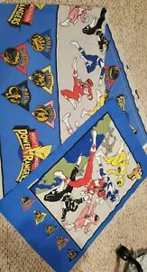 Vintage 1994 Saban's Mighty Morphin Power Rangers Twin Bed SHEET Pillow case