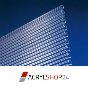 Polycarbonat Stegplatten Doppelstegplatten Hohlkammerplatten 10mm klar PC Neu