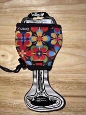 Woozie Neoprene Wine Glass Sleeve Koozie Coozie Drink Insulator Flowers