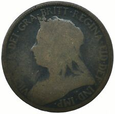1897 HALF PENNY GB UK QUEEN VICTORIA COLLECTIBLE COIN    #WT31625