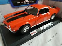 MAISTO 1:18 Scale - 1971 Chevrolet Camaro - Orange -  Diecast Model Car