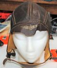 Original WW2 USN Navy Pilot Flight Leather Skull Cap Helmet NAF 1092