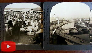 Russia stereoviews lot x 22 different Keystone views city streets people culture