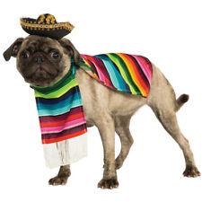 Mexican Sarape Pet Costume Sombrero Dog Poncho Mariachi Puppy Taco Bell