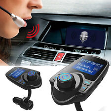 Wireless Bluetooth T10 Handsfree Car Kit FM Transmitter Music USB LCD TF Card
