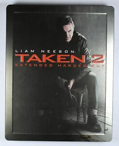 Taken 2 Blu Ray Extended Harder Cut Steelbook Case FREE POST