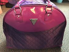 Guess Purple Quilted Tote Bag