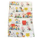 Peanuts Charlie Brown Snoopy Vintage 1971 Fabric 50/50 Sheet Tastemaker 66 x 104