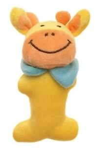 Baby Rattle Cloth Yellow Cow Design Rattles And Squeaks