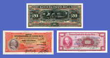 COSTA RICA - Lots of 3 notes - 2...1000 Colones - Reproductions
