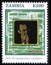 Computer, Science, Microprocessor developed, Zambia 2000 MNH Millennium (A4n)