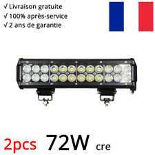 "2x72W 12/"" Rampe de toit conduit Barre LED Phares de Travail SUV ATV For Jeep 12V"