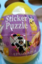 Animal Club Stickers Puzzle Easter Egg  6ct. New 2017