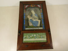 Vintage Catholic Last Rites Shadow Box Pieta Jesus and Virgin Mary