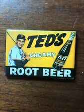 Ted's Creamy Root Beer pocket mirror, Ted Williams, Boston Red Sox.