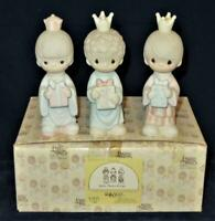 Precious Moments Porcelain Figurine 1981 WEE THREE KINGS Nativity E5635, MIB