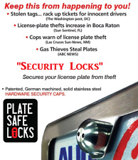 Anti-Theft, Tamper Free License Plate Security Locks, Stainless Steel, Screws