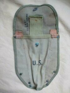 Housse pelle US M-1943 première version datée 1943 kaki OD3 Gi's D-Day Normandie