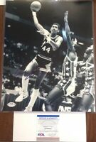 George Gervin PSA Authenticated Hand Signed 11x14 Photo Iceman HOF