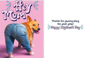 Avanti funny greeting card mom mother's day dog puppy genes jeans humorous