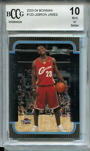 2003 Bowman Basketball #123 Lebron James Rookie Card RC Graded Beckett BCCG 10
