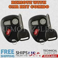 2 for 1998 1999 2000 2001 GMC Jimmy Keyless Entry Remote Fob Car Key