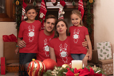Funny Christmas T-Shirt, Santa's Reindeer with a Face Mask Covering.