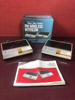 Vintage Realistic Plug N Talk 2 Station FM Wireless Intercom 43-212B #2058
