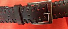 Ladies black faux leather belt (new)