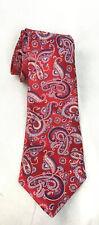 """Robert Talbott Carmel XL Extra Long Red Paisley 100% Silk Tie 65"""""""