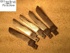 "(5) Pc. Lot Of 2-3/4"" OA F. Herder & Son Solingen Germany Knife Blades Un-sharpe"