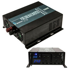 1000W Power Inverter Pure Sine Wave Inverter 24V DC to 240V AC 50Hz LED Display