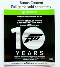 Forza Horizon 2 Ten Year Anniversary Car Pack Xbox One (GAME NOT INCLUDED)