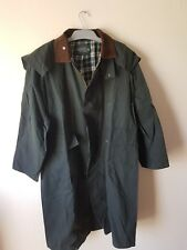 Long OpenTrack Wax Jacket Green Riding Coat Outdoors waterproof