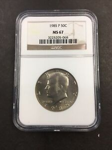 NGC 1985 P MS 67 Kennedy Half Dollar NO RESERVE!! AWESOME!