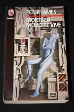 MORTE EN MEMOIRE VIVE,PETER JAMES,J'AI LU-1996,EPOUVANTE,FORMAT LIVRE DE POCHE