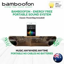 BambooFon - Energy Free Portable Sound System - Classic (Travel Bag Included)