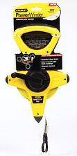 Stanley PowerWinder  Fiberglass Long Tape Measure  1/2 in. W x 100 ft. L