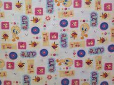 ~ FLANNEL ~Tweety Bird ~ Quilting ~ Licensed~Fabric~ Flannelette Pink~Girls~FQ ~