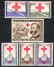 Belgium 1959 Red Cross/Medical/Health/Welfare/Henri Dunant/Blood 6v set (n31920)