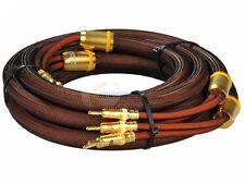 Choseal LB-5109 8.2ft 2.5M OCC 6N Speaker loudspeaker Cable OD19 Banana ~no pack