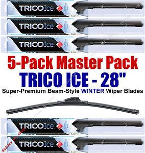 "5 Pack 28"" WINTER Wiper Blades Super-Premium Beam-Style Trico ICE 35-280 (x5)"