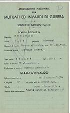 ASS.NE INVALIDI E MUTILATI DI GUERRA POLIZIA DI STATO GARESSIO 6-214E